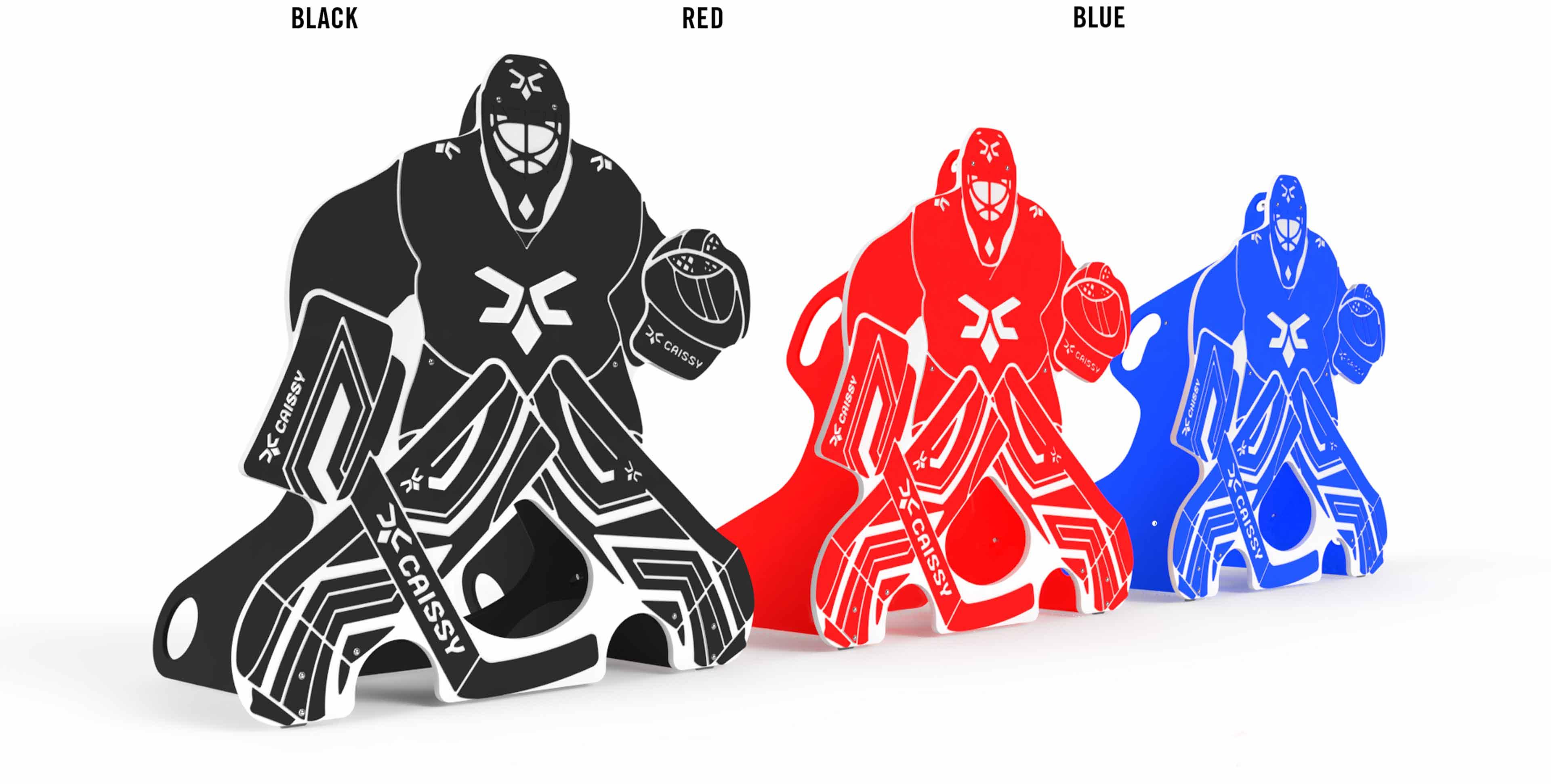Trois gardiens différentes couleurs,noir rouge et bleu